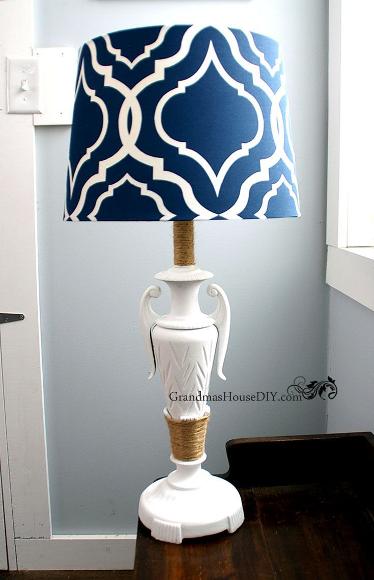 Before And After Lamp Painting And Adding A New Shade Lamp Inspiration Beautiful Lamp Gold Lamp