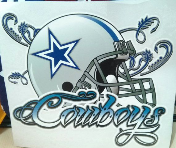 Dallas Cowboys Helmet window decal by JuiceCollection on Etsy, $17.99
