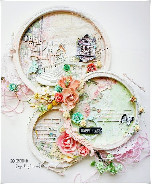 My Craft World: Altered Embroidery Hoop