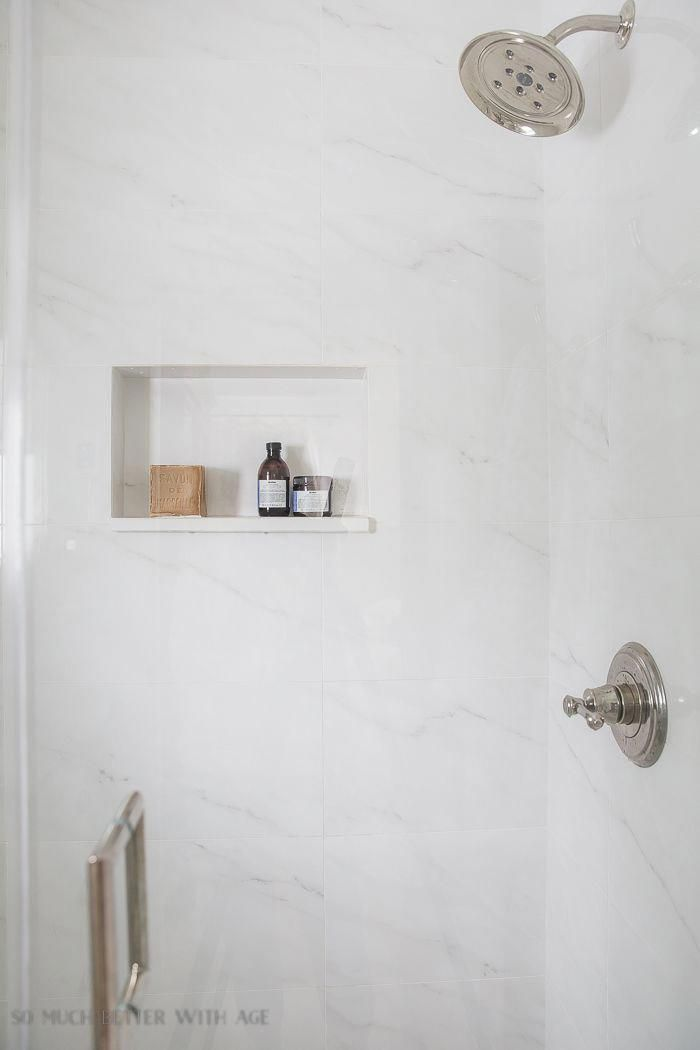 Delta cassidy faucet and shower head in polished nickel Modern