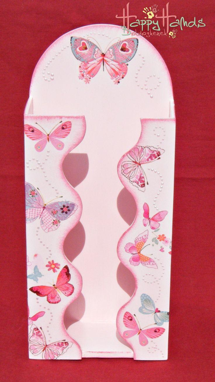 pillangós zsebkendőtartó