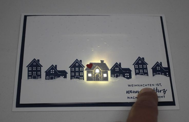 """""""Christmas at home"""". And it's not just a card ... but an LED Christmas card."""