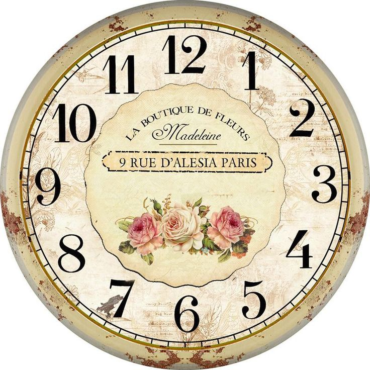 Home Decor Flower Rustic Vintage Wall Clock Modern Design Fashion Large Decorative Antique Wooden Wall Clock Oversized $17.77
