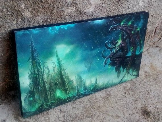 World of Warcraft, WoW, Illidan Stormrage, Gaming, Art Print, Wall Art, Wall Decor, Handcrafted from recycled chipboard