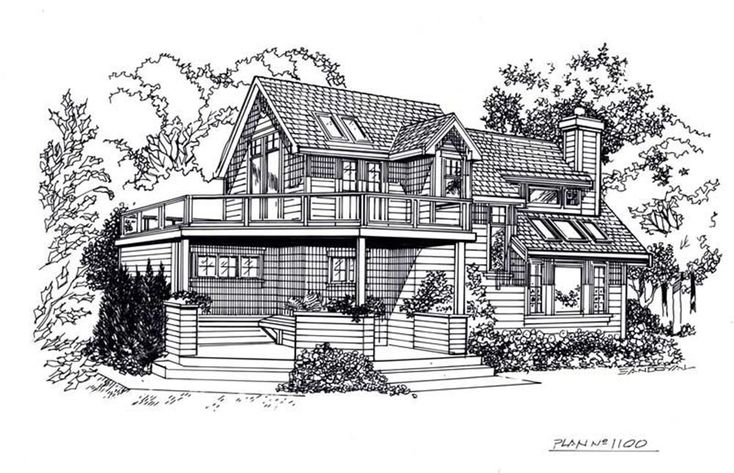 Line Drawings House Plans