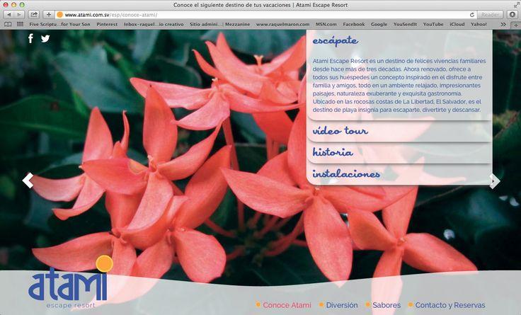 website atami escape resort, conoce atami, 2014. ®raquel marón estudio creativo