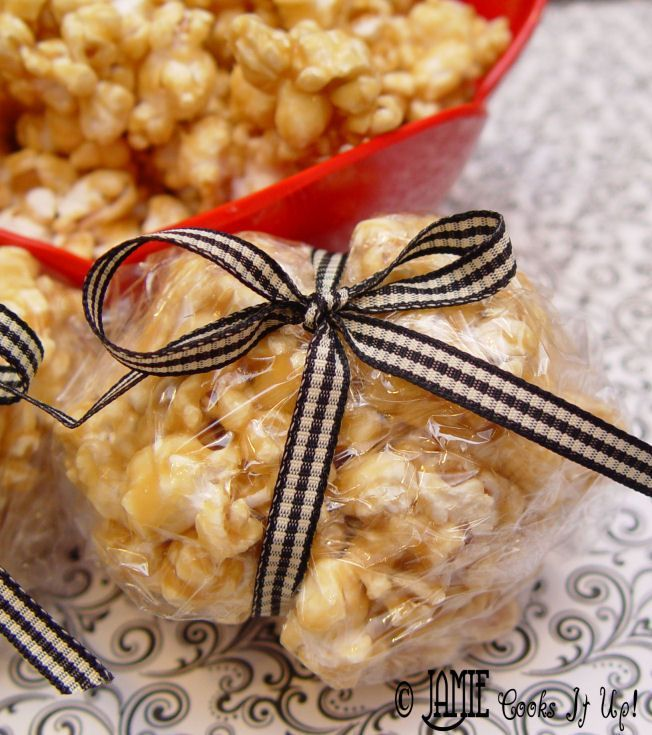 Caramel Popcorn. Best, most yummy, gooey treat ever! Everyone always asks me for this recipe after I make it!