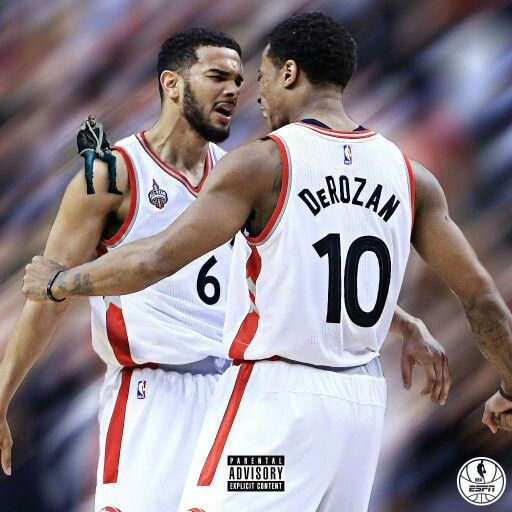 The Toronto Raptors' Cory Joseph and Demar Derozen advance to the second round for the first time since 2001 with their franchise part owner Drake along for the ride.