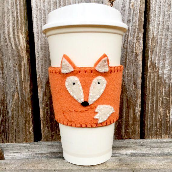 Fieltro café acogedor Fox café acogedor cosido por OutoftheWoodsTX