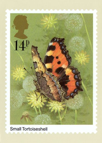 Post Card, reproduced from a stamp designed by Gordon Beningfield and issued by the Post Office on the 13th of May 1981