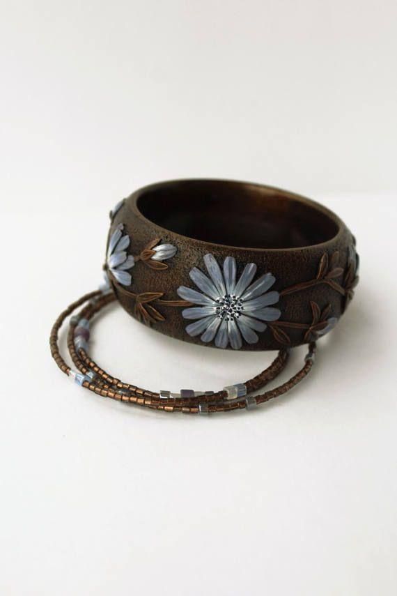 Polymer clay jewelry set jewelry set bracelets от WildOnionArt