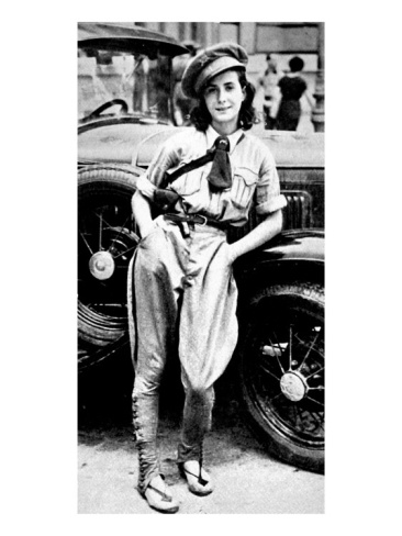 Female Chauffeur of Valencia's Communist Regiment; Spanish Civil War