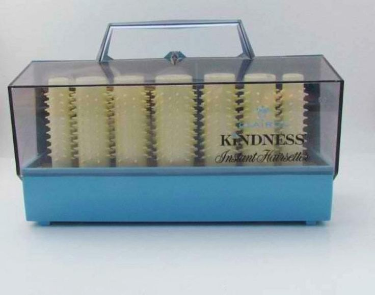 Clairol Kindness hot rollers. The red dot turned black when they were hot.
