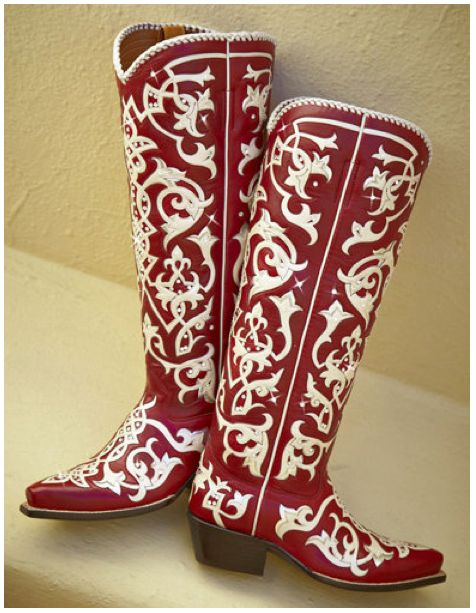 Chandelier Red boots from www.Rocketbuster.com Gorgeous!