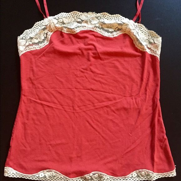 Anne Taylor LOFT Small Dark Orange Cami Only worn a few times. Adjustable straps Ann Taylor Tops Camisoles