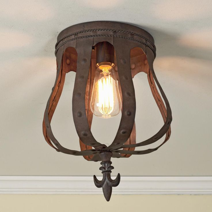 Rusty Crown Ceiling Light