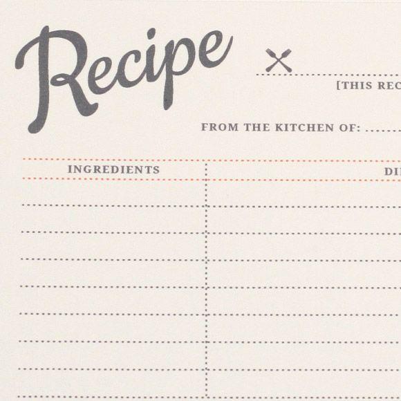 recipe labels templates