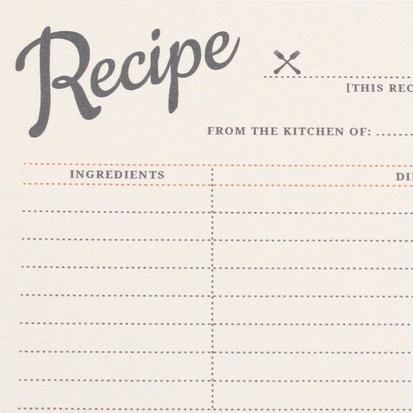 Vintage Recipe Cards- Printable