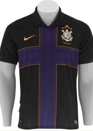 Nova camisa do Corinthians tem preto, roxo e dourado