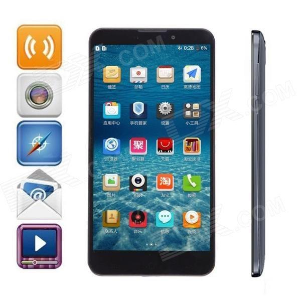"""UMI Cruz MTK6589T Quad Core Android 4.2 WCDMA Telefone w / 6,44 """"FHD OGS, 2GB de RAM, 32GB de ROM - Preto - Frete Grátis - DealExtreme"""