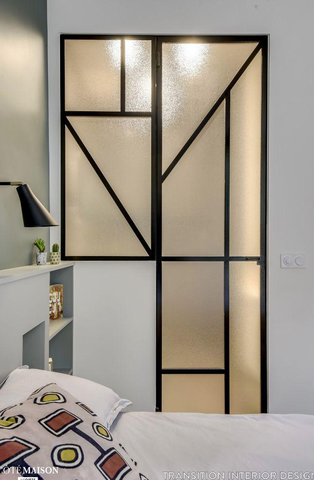 verri re graphique originale art d co porte en verre verre et m tal verre arm verri re. Black Bedroom Furniture Sets. Home Design Ideas