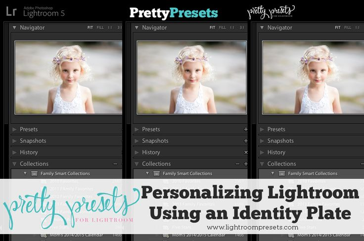 Personalizing Lightroom--Adding An Identity Plate | Pretty Presets for Lightroom