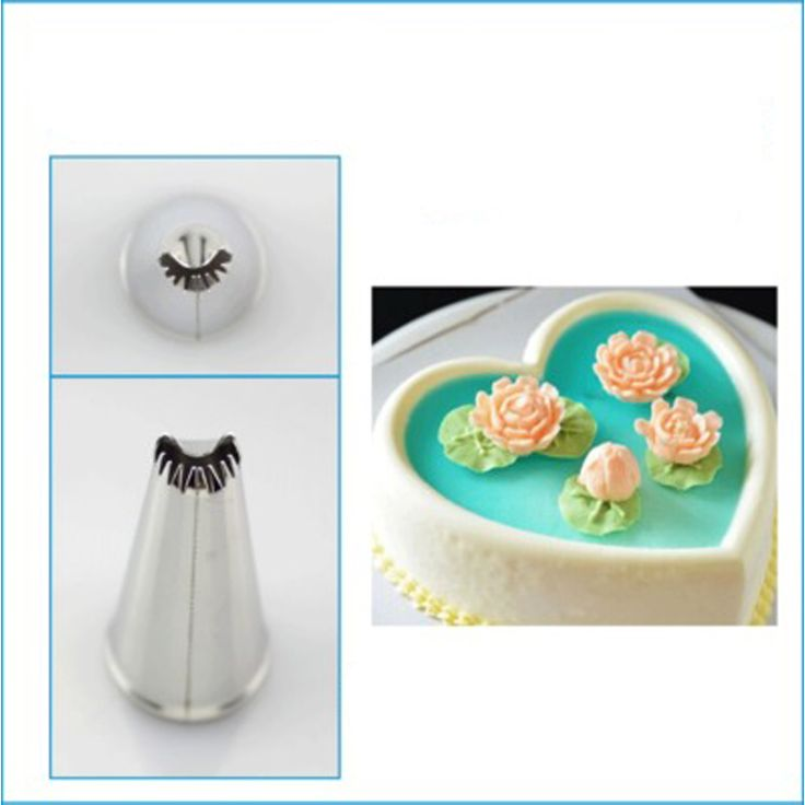 #CP10   Lotus Flower  Cream Stainless Steel Nozzle  DIY Cake Decorating Tips Baking  Sugarcraft tool  on Aliexpress.com   Alibaba Group