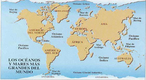 Resultado De Imagen Para Los Mapas Y Oceanos En Un Mapa Planisferio Mapa De Los Oceanos Mapamundi Para Pintar Océano Indico