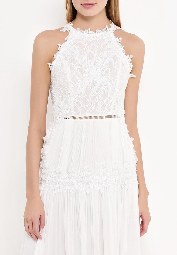 Платье Lost Ink приталенного кроя. Модель выполнена из легкого текстиля. Детали: круглый вырез, застежка на молнию, верх декорирован кружевом, текстильная подкладка.