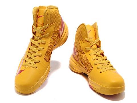 Nike Lunar Hyperdunk X 2012 James Shoes Yellow/Red Cheap Hyperdunks