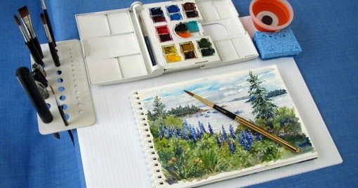I'm always on the lookout for new ideas to simplify my plein air/travel sketching kit and when Marc Taro Holmes  first introduced the idea o...
