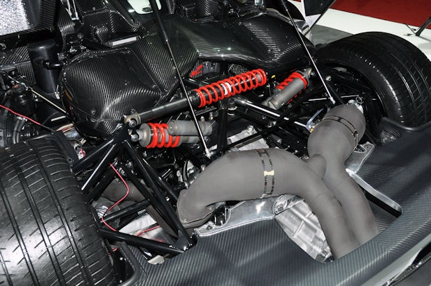 Suspension - the Koenigsegg Triplex Suspension uses a third shock to cancel out the force of the anti-roll-bar during straight-line travel: http://www.youtube.com/watch?feature=player_embedded=bbgjRBT4ltM#!