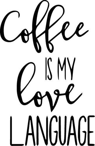 Download Coffee Love Language SVG file - Text And Shapes SVG ...