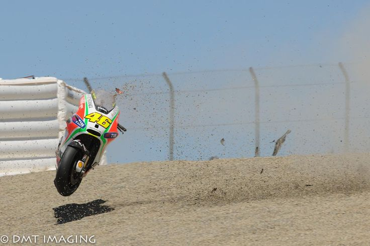 Soup :: Laguna. MotoGP. Images. 2012.  Rossi's Laguna ghost ride at the top of the corkscrew. Ducati Fail.
