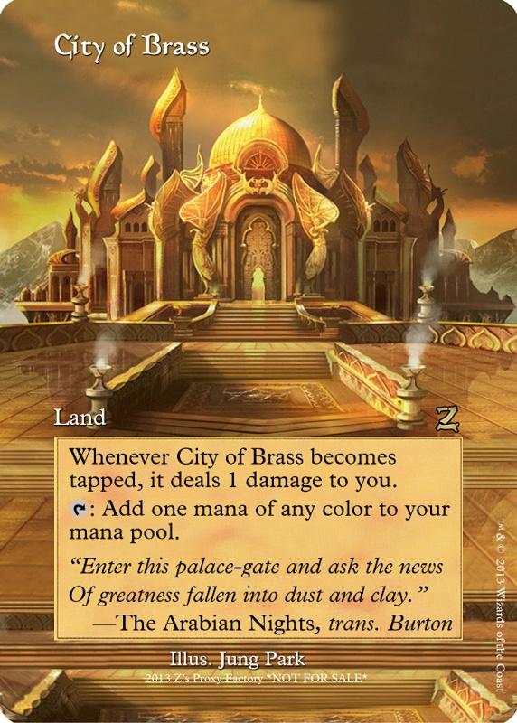 City of Brass, zeerbe, proxy, digital render, Z's Proxy Factory, MTG, Magic the Gathering