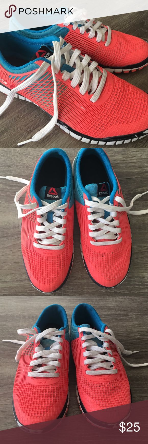 ‼️SALE‼️ Reebok cross-training Tennis Shoes 7.5 Worn a couple times, rub marks on front (see photo!) are from rope climbing one time. Plenty of life left! These are flat like the crossfit shoes, perfect for weight-lifting. Sz 7.5, TTS Reebok Shoes Athletic Shoes