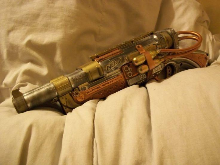 Steampunk Nerf Barrel Break by ~IssacAkutenshi on deviantART | via AnniePottersville