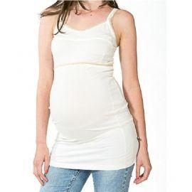 Heerlijke zwangerschapstop van love2wait, ideaal voor een zomerse dag, of ergens onder. De top is lekker lang, dus past zeer goed over je groeiende buik heen.  Ook ideaal voor de nacht evt.als nachthemd. En ook NA de zwangerschap goed te dragen