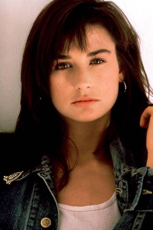 Young Demi Moore in a Blue Jea... is listed (or ranked) 7 on the list 25 Pictures of Young Demi Moore