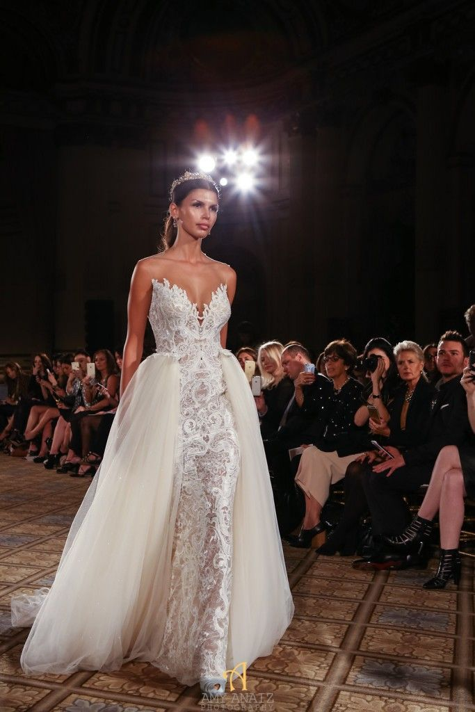 29 best images about chwv overskirt wedding dress on for Wedding dress with overskirt