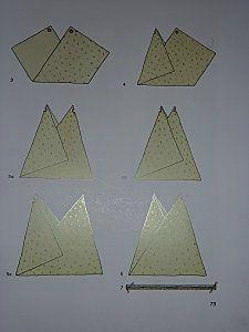 un petit sac en bandoulière façon Origami – tissu rouge écru