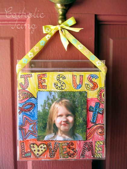 Jesus loves me CD case.  Leave as an ornament or mix a CD for your kids.