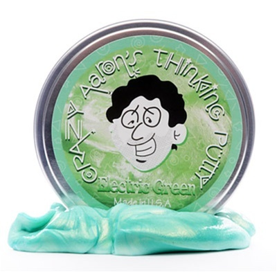 Electric green thinking putty