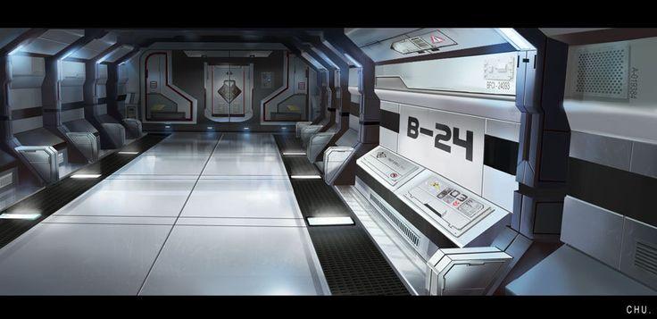Space Hallway, Janice Chu on ArtStation at https://www.artstation.com/artwork/2rRa