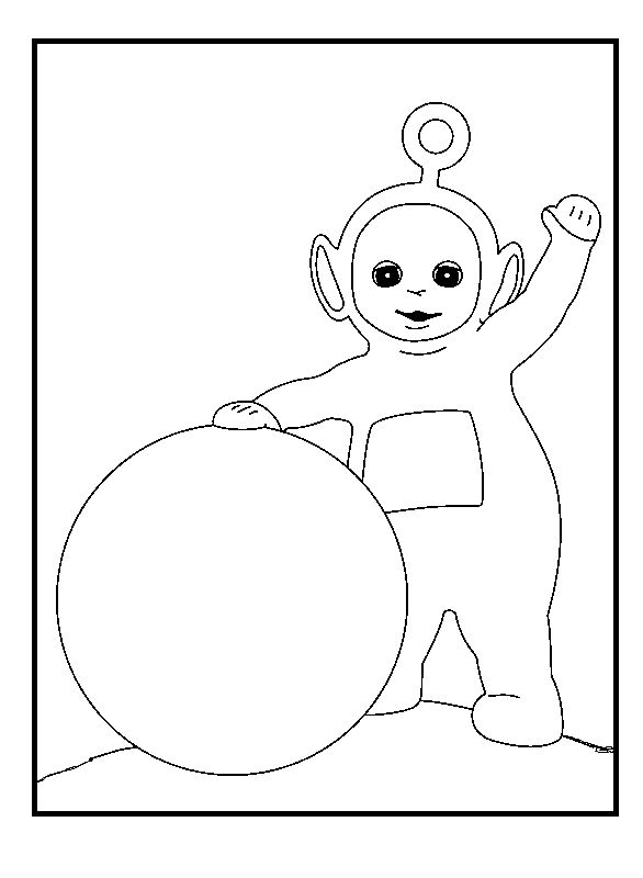 teletubbies po and large ball coloring pages for kids printable teletubbies coloring pages for kids - Teletubbies Dipsy Coloring Pages