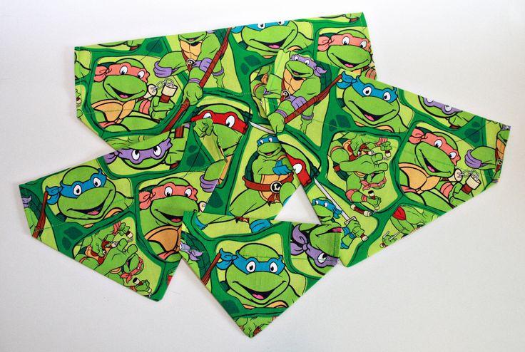 Turtle Dog Bandana/ Cat Bandana/ No Tie Bandana by BonzaiGiftsPetNanny on Etsy