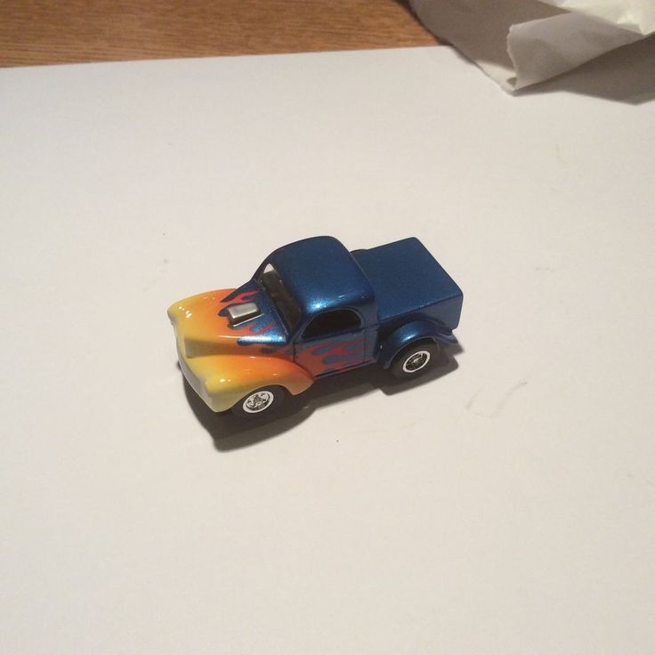 """HO DETROIT  Flamed Willy""""s Pickup Truck w/NOS AURORA T-JET CHASSIS #HODETROIT"""
