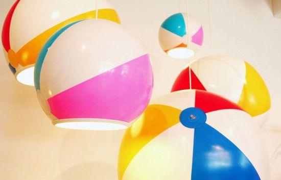 Beach ball lamp shade #Ball, #Beach, #Lampshade