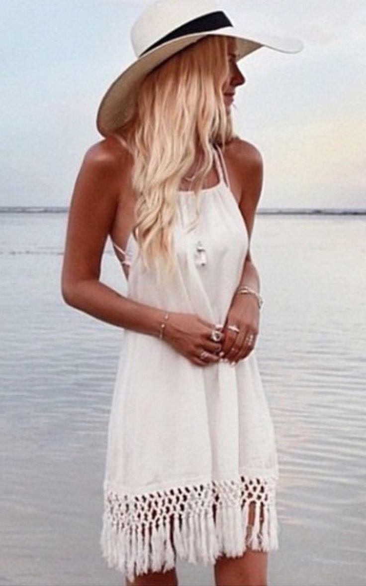 Le Salty Label - Malibu Tassle Dress In White