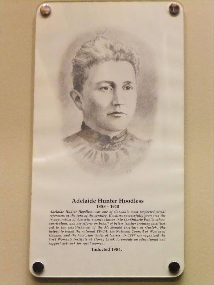 Adelaide Hunter Hoodless 1858-1910 (Hamilton Gallery of Distinction) | Flickr - Photo Sharing!